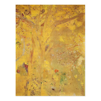 Yellow Tree by Odilon Redon Postcard