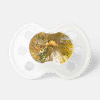 Yellow Tree Swirl's Two Baby Pacifiers