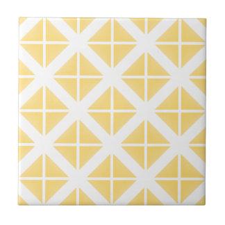 Yellow Trendy Triangle Pattern Ceramic Tile