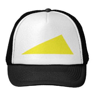 yellow triangle mesh hats