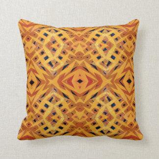 Yellow tribal shapes pattern cushion