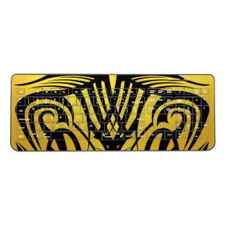 Yellow Tribal Wireless Keyboard