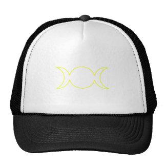 Yellow Triple Goddess Outline Mesh Hat