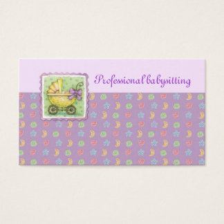 Yellow Trolley Babysitting Purple Card