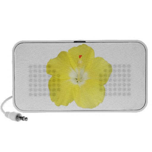 Yellow Tropical Hibiscus Flower Portable Speakers