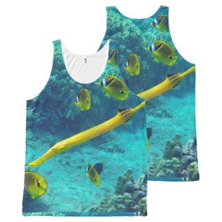 Yellow Trumpet Fish at Hanauma Bay Hawaii All-Over Print Tank Top