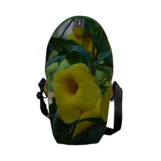 Yellow Trumpet Vine Messenger Bag