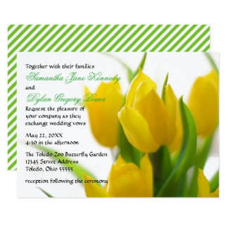 Yellow Tulip - 3x5 Wedding Invitation
