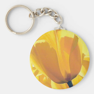 Yellow Tulip Add Text Key Ring