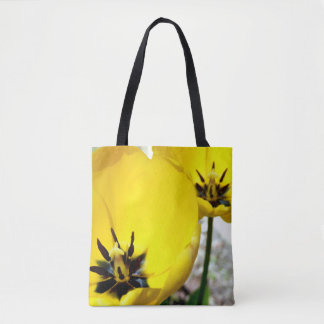 Yellow Tulip All Over Print Tote Bag
