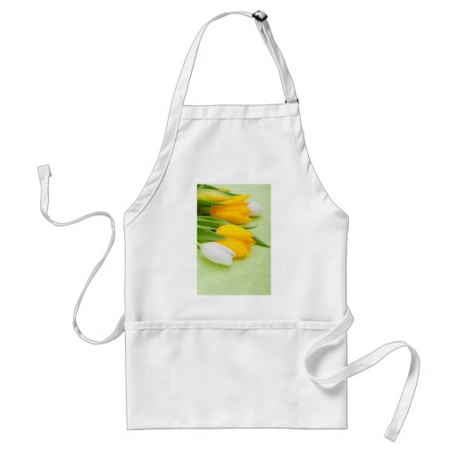 Yellow tulip apron