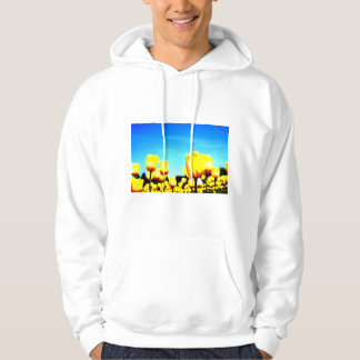 Yellow tulip at Sera plateau farm of Hiroshima Hoodie
