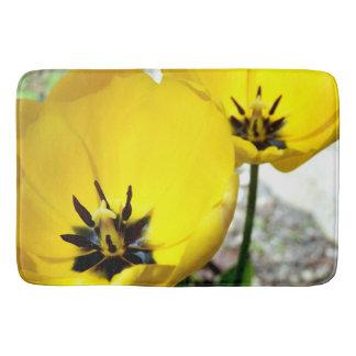 Yellow Tulip Bath Mat