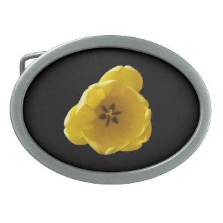 Yellow Tulip Belt Buckle