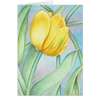 Yellow Tulip Card