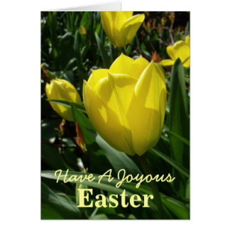 Yellow Tulip Easter Card