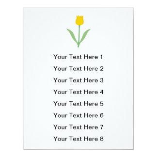 Yellow Tulip Flower. Card