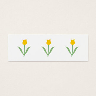 Yellow Tulip Flower. Mini Business Card