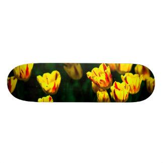 Yellow tulip flowers custom skateboard