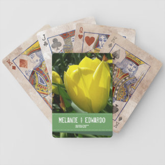 Yellow Tulip Flowers Wedding Bicycle Playing Cards