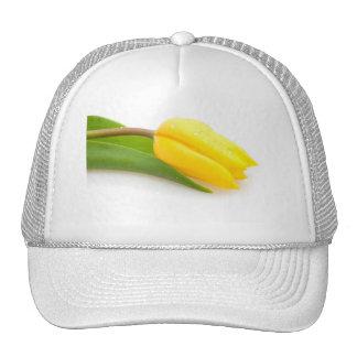 Yellow Tulip Mesh Hats