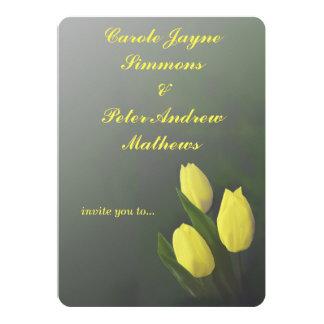 Yellow Tulip Personalized Wedding Invitation
