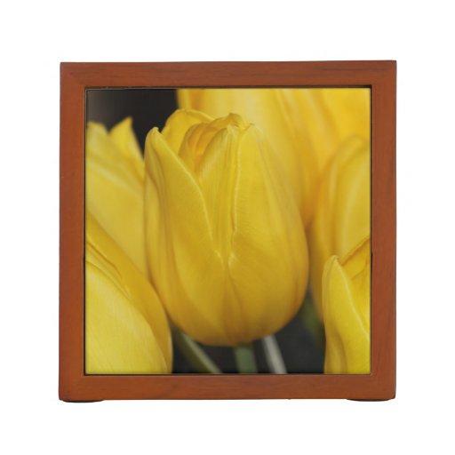 Yellow Tulip photo Desk Organizers