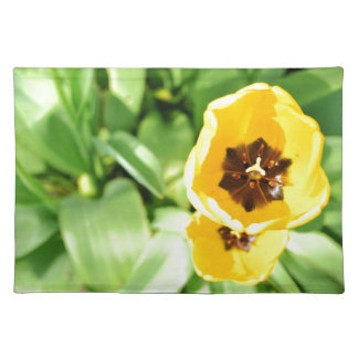 Yellow tulip placemat
