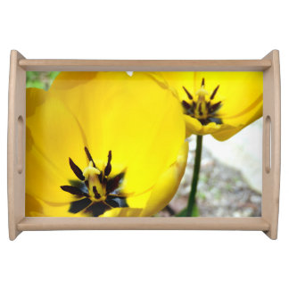 Yellow Tulip Serving Tray