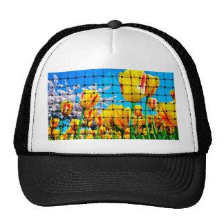 Yellow Tulip Weave Cap