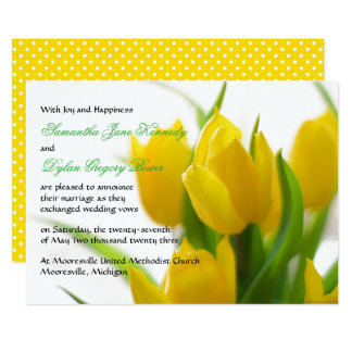 Yellow Tulip - Wedding Announcement