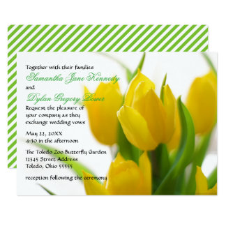 Yellow Tulip - Wedding Invitation