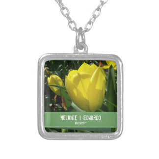 Yellow Tulip Wedding Necklace for Bride