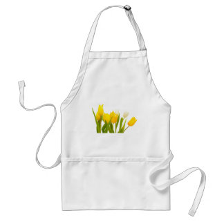 Yellow tulips aprons