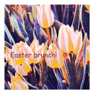 Yellow tulips Easter Brunch Custom Invitation