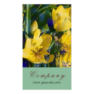 Yellow Tulips Elegance Business Card