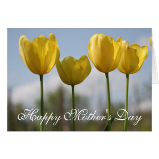 Yellow Tulips Floral Photo Mother's Day Card