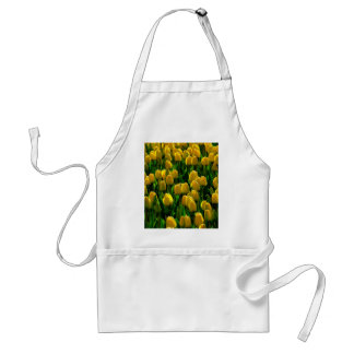 Yellow tulips from Holland Adult Apron