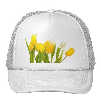 Yellow tulips mesh hats