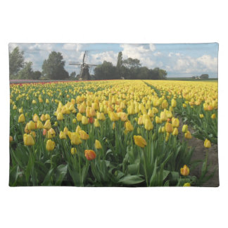 Yellow Tulips in a Field Holland Placemat