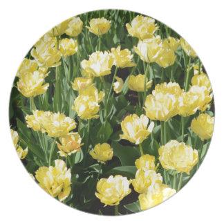 Yellow Tulips Plate