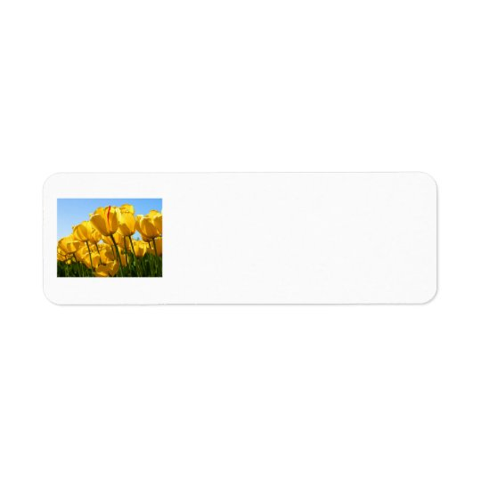 Yellow Tulips Return Address Labels
