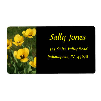 Yellow Tulips Shipping Label