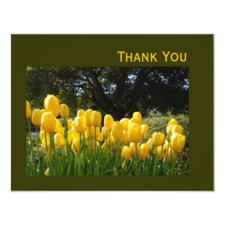 Yellow Tulips Thank You Card 11 Cm X 14 Cm Invitation Card
