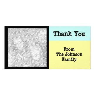 yellow turquoise black photo greeting card