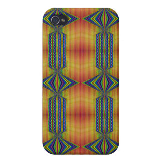 yellow turquoise pern iPhone 4/4S cases