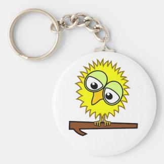 Yellow Tweet Basic Round Button Key Ring