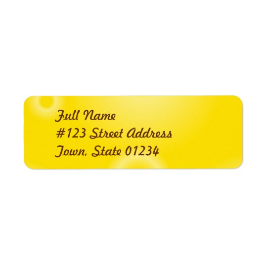 Yellow Tye Dye Mailing Labels