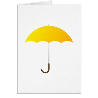 Yellow Umbrella Card