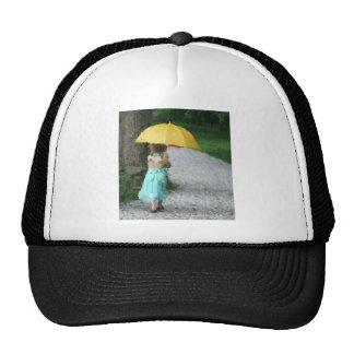 Yellow Umbrella Hats